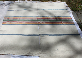 Plimoth Blanket Panels Drying