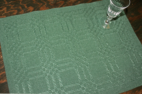 Linen Placemat, Ms & Os