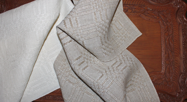 Linen Tea Towels, Ms & Os